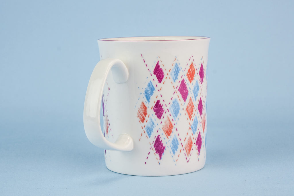 Bone china retro mug