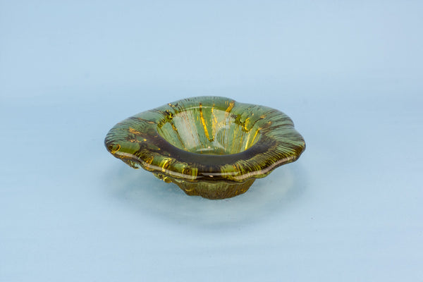 Amber glass bowl