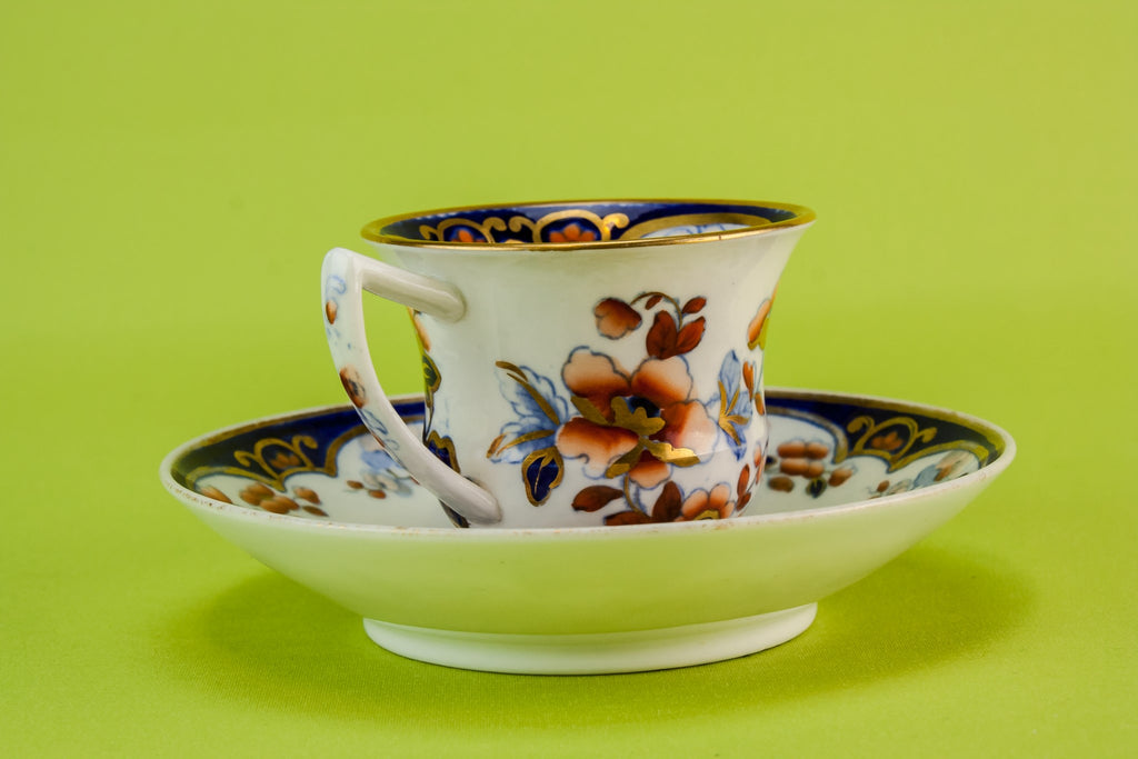 Floral coffee cup & saucer
