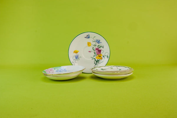6 harlequin tea saucers