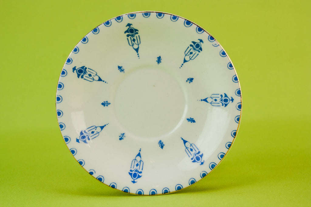 6 Edwardian bone china plates