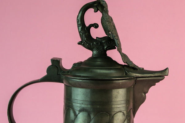 Pewter wine jug