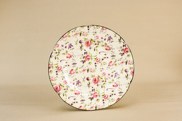 Chintz pottery plate