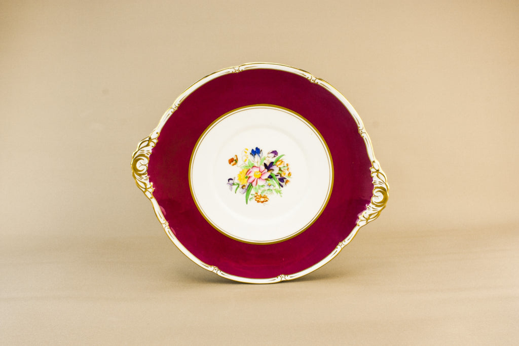 Adderley bone china cake plate
