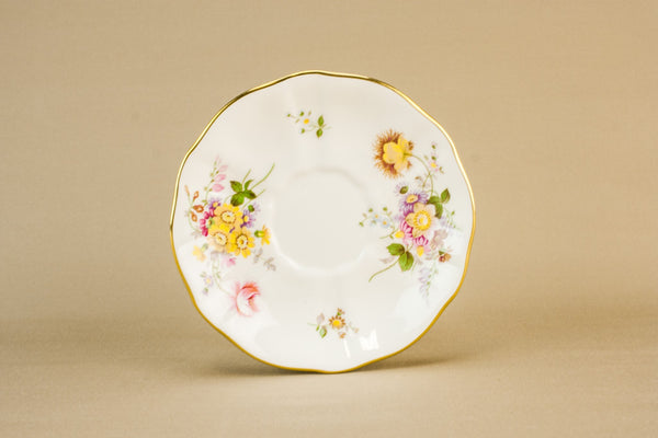 4 Derby tea saucers
