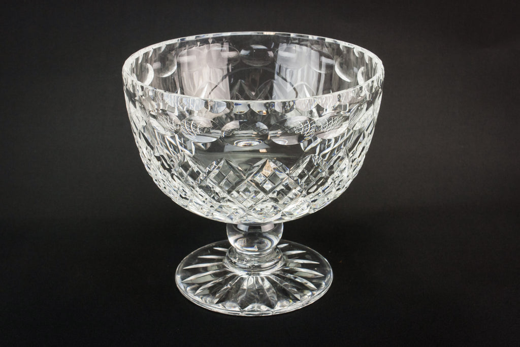 Cut glass stem bowl