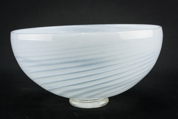 White  glass serving bowl