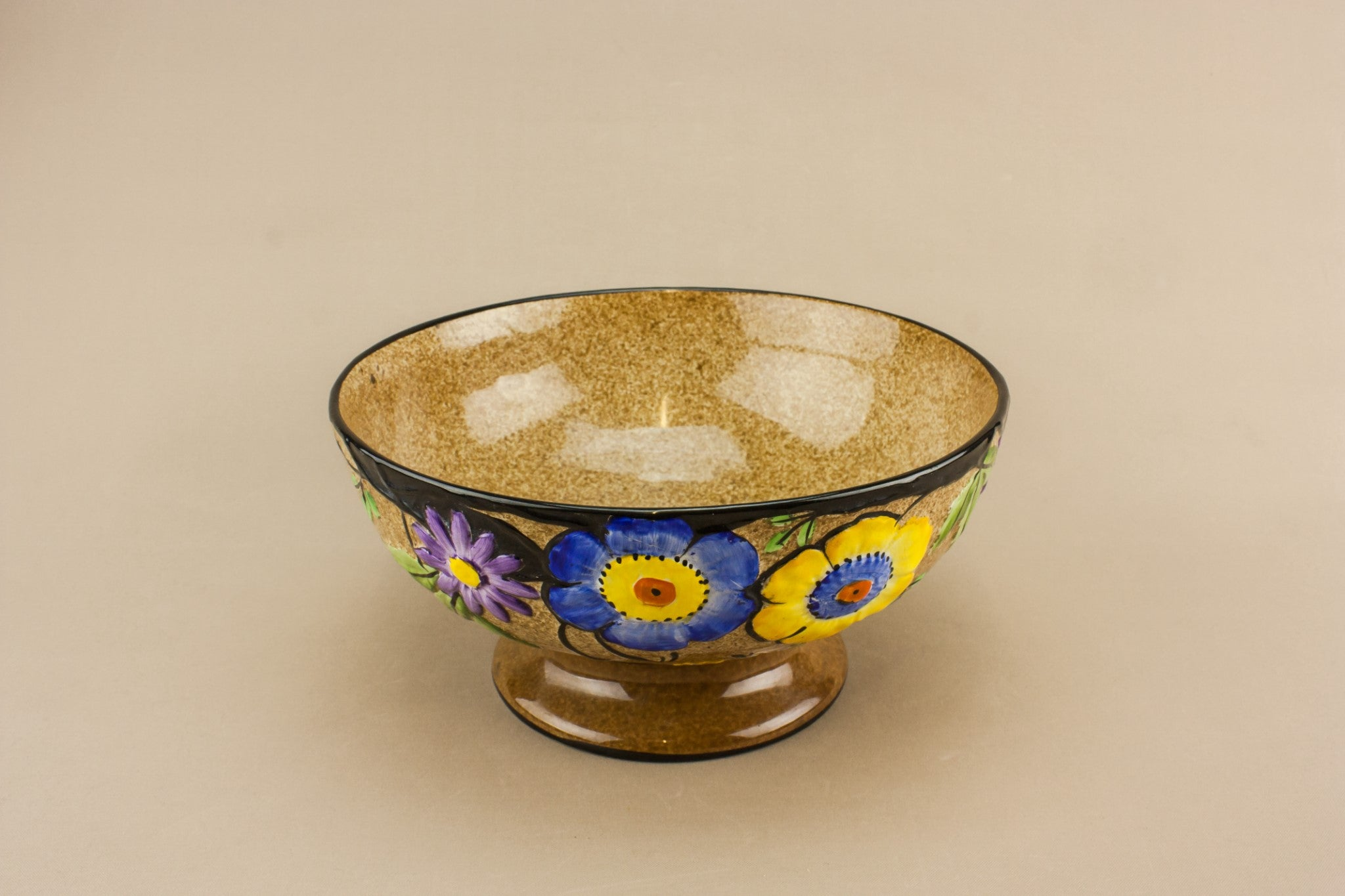 Art Deco pottery bowl