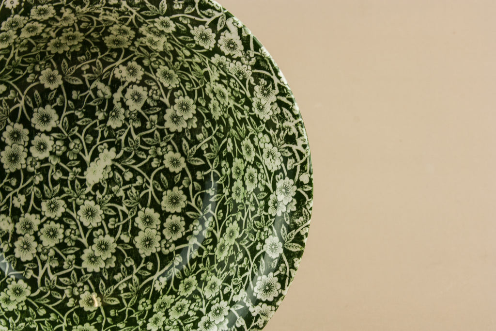 Green Calico serving bowl