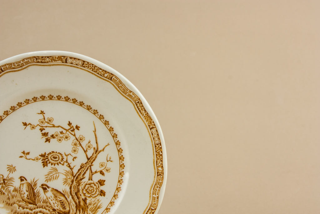 5 Art Deco pottery plates