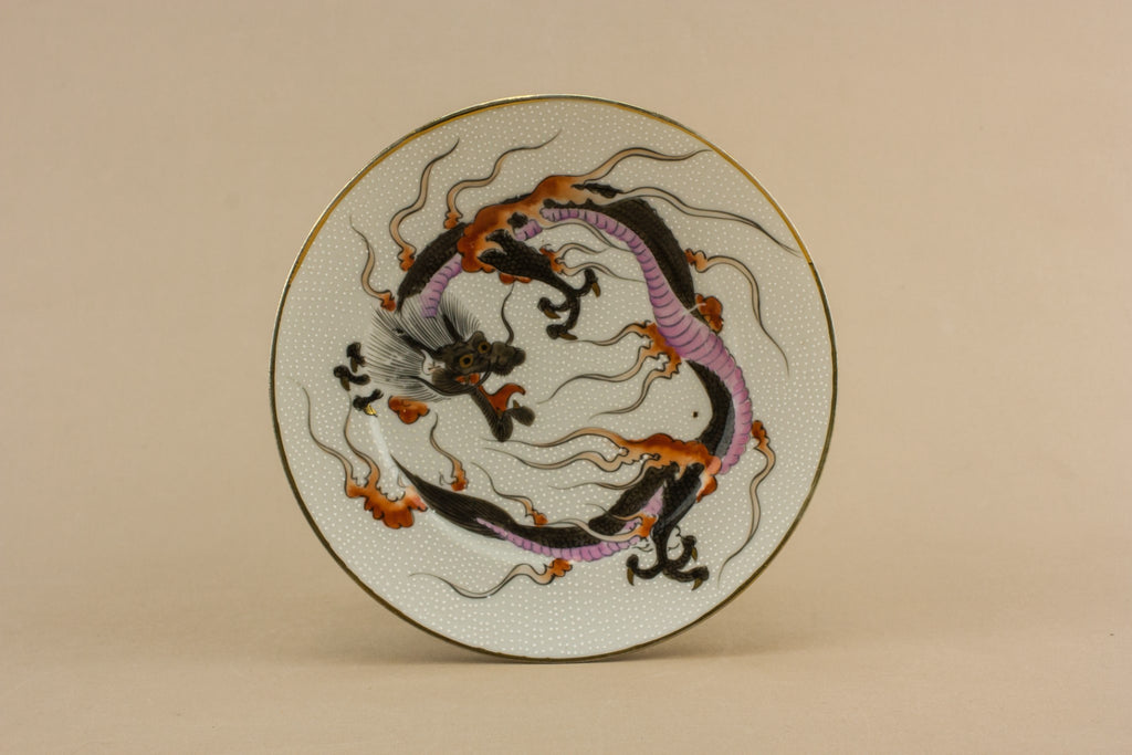 3 dragon porcelain plates