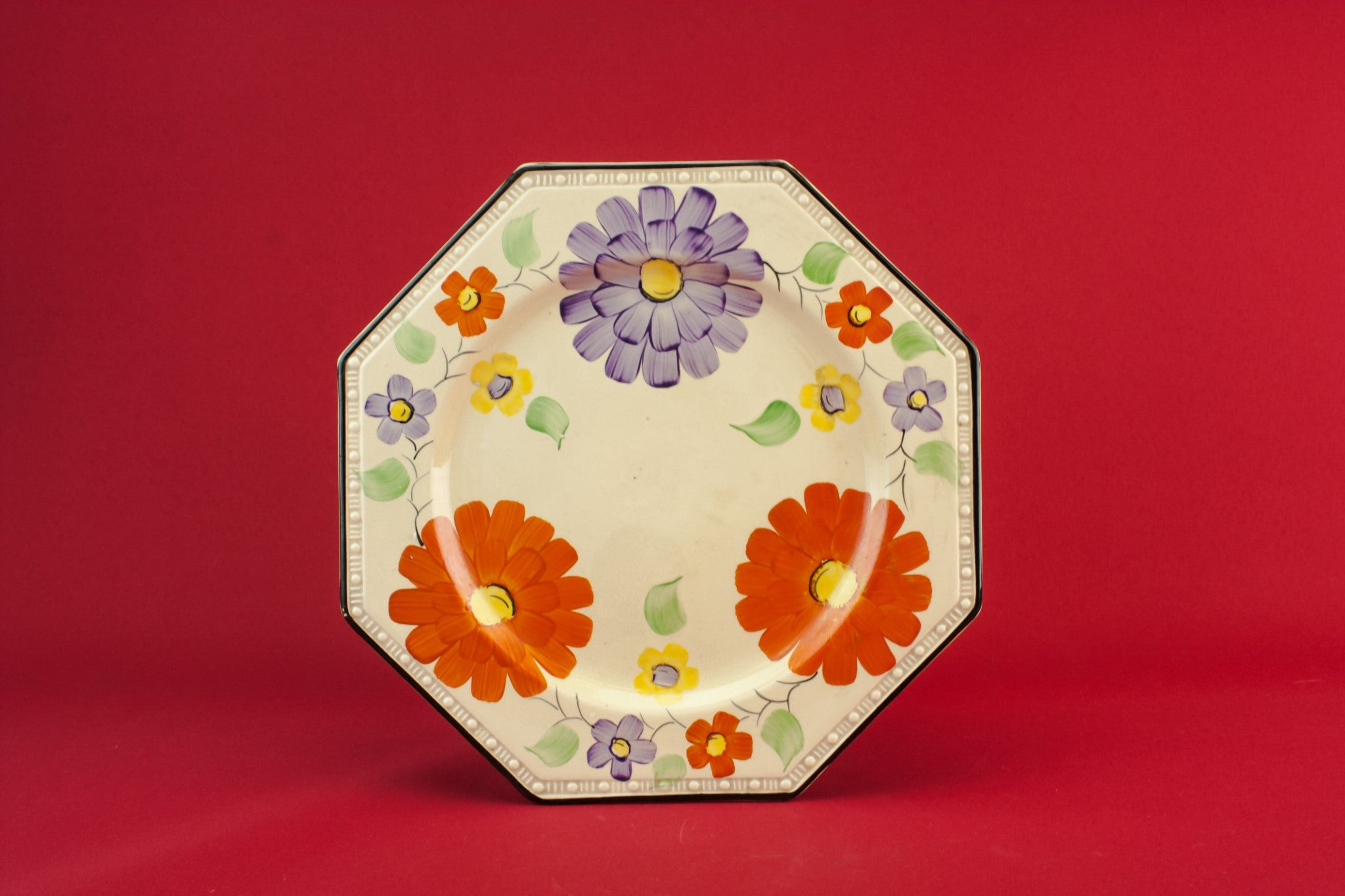Art Deco pottery serving dish