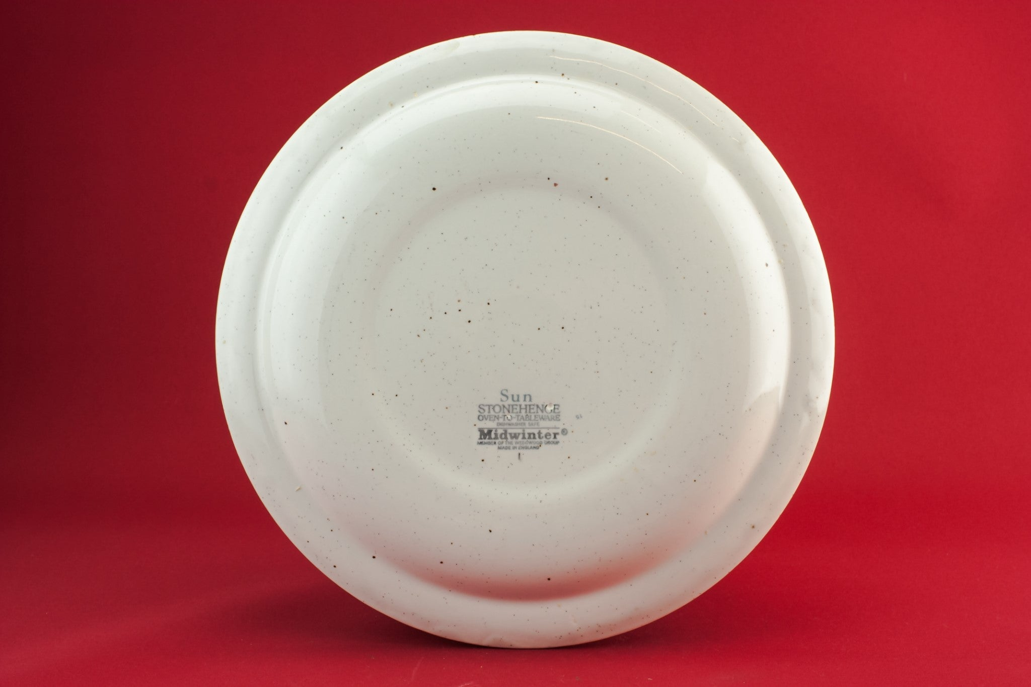 6 pottery dinner plates