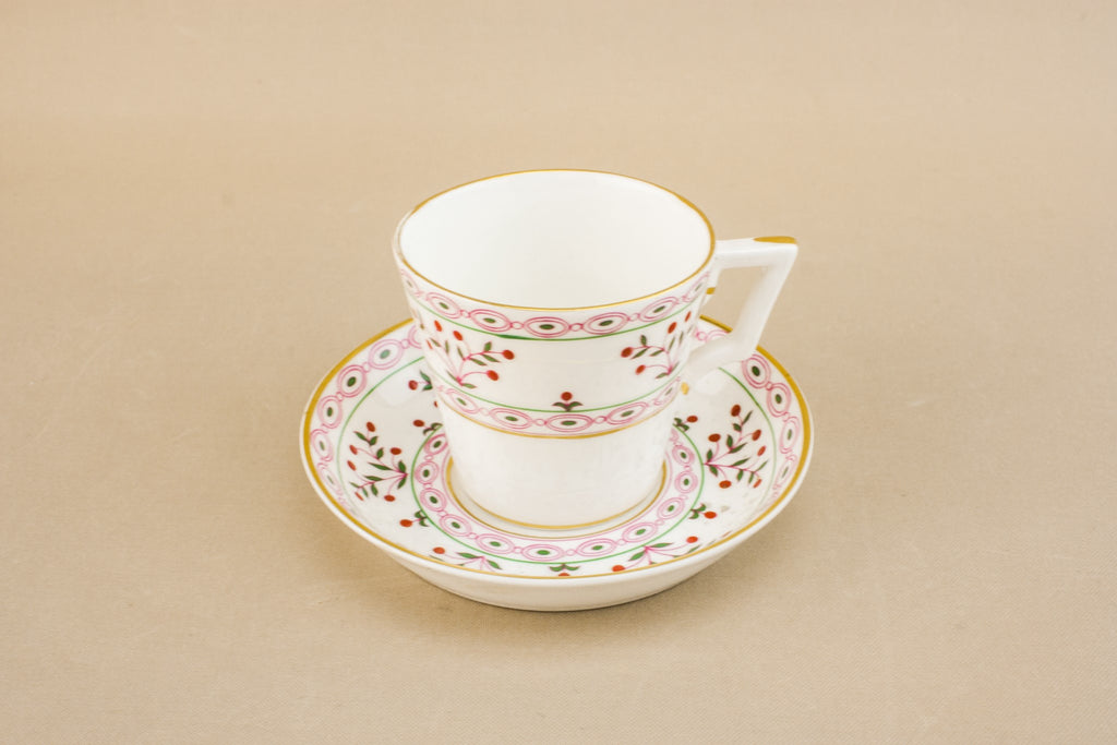 Bone china retro teacup