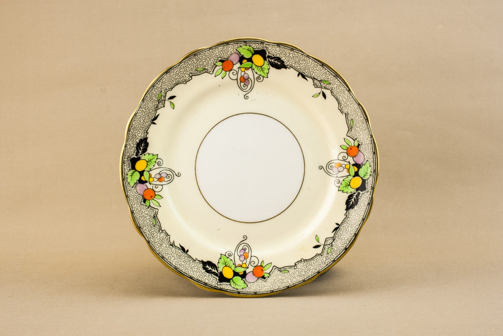 Art Deco bone china plate