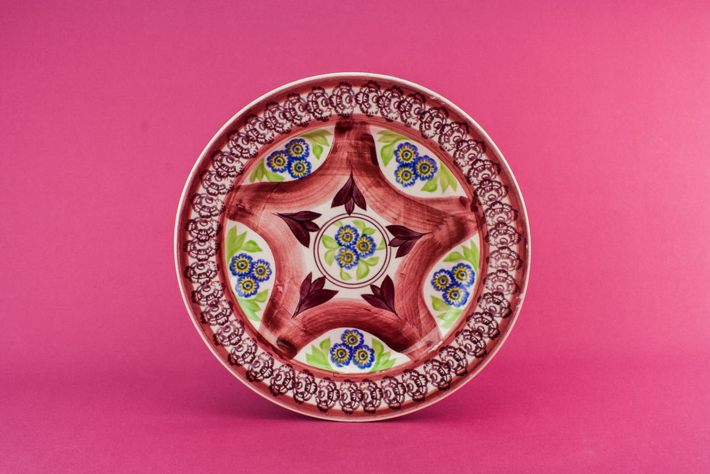 Retro pottery serving dish