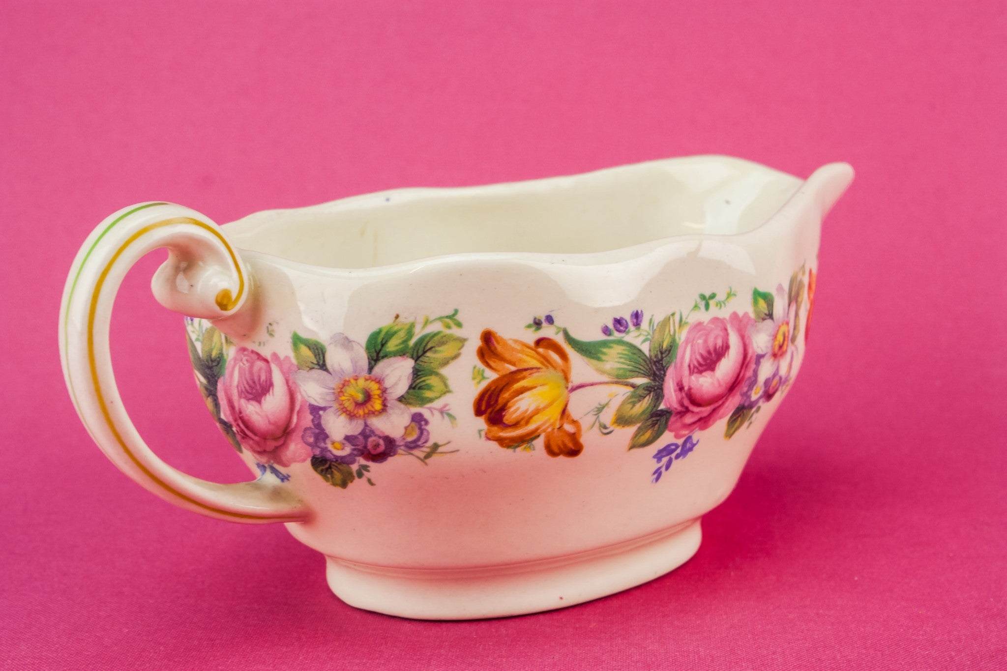 Floral gravy boat