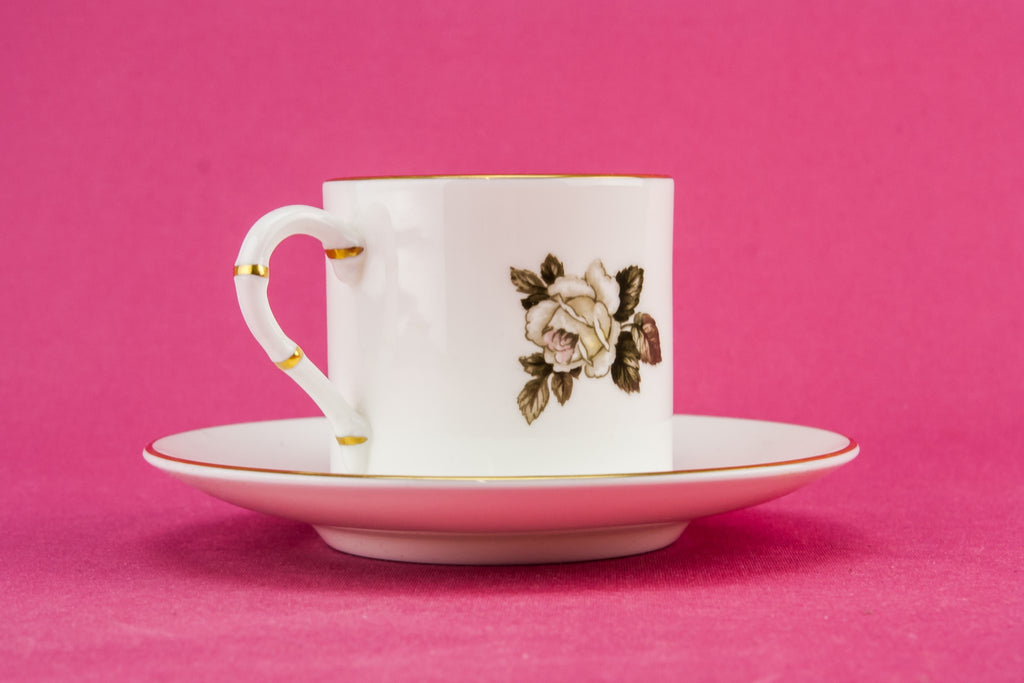 Bone china coffee set for six