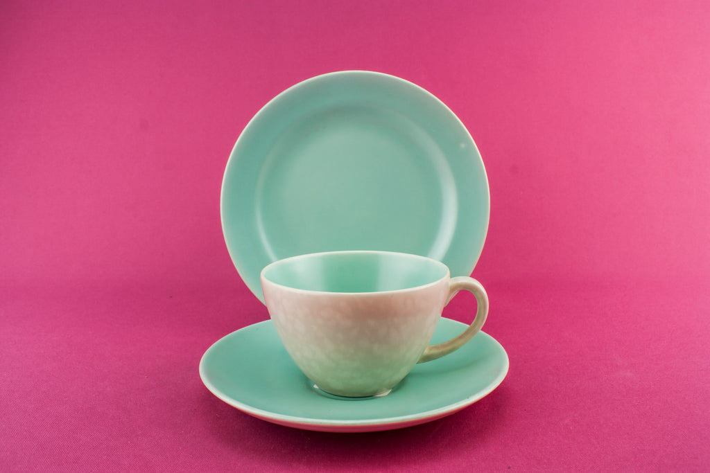Green Poole tea set