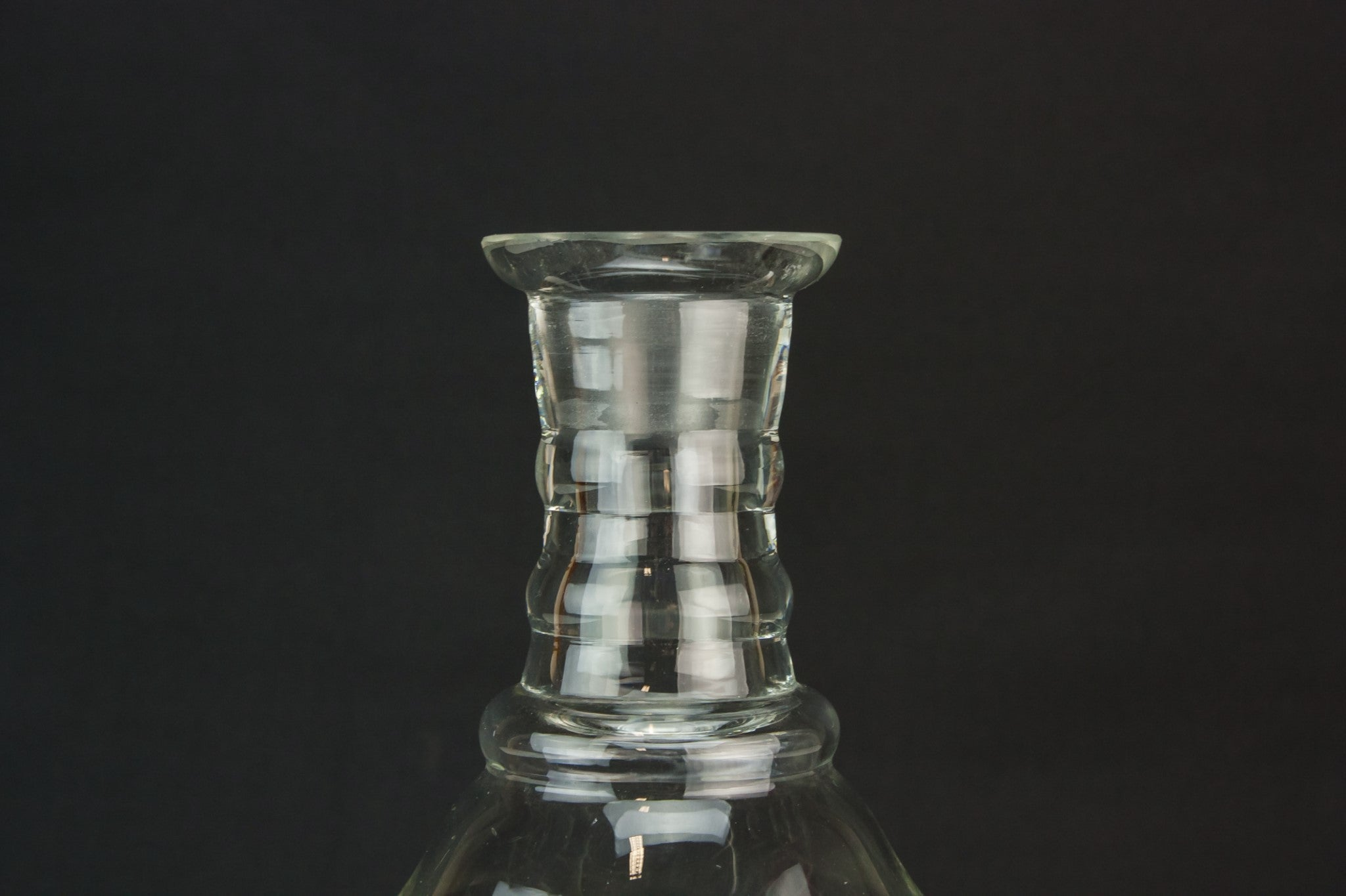 Cut glass wine carafe