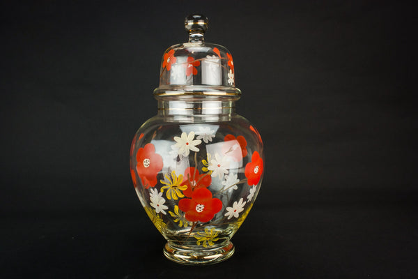 Mid-Century Modern glass jar