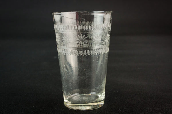 Engarved whisky glass