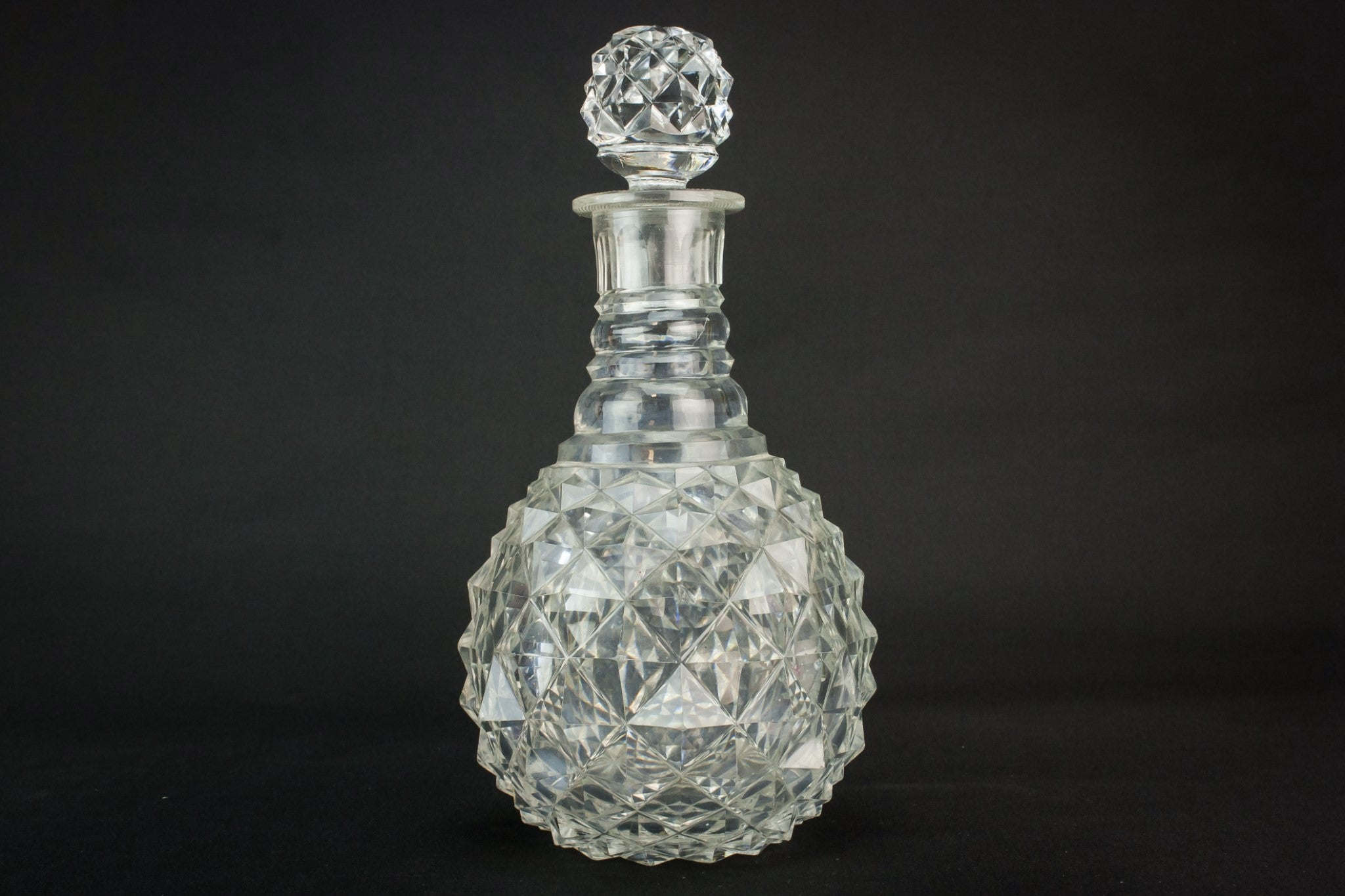 Cut glass whisky decanter