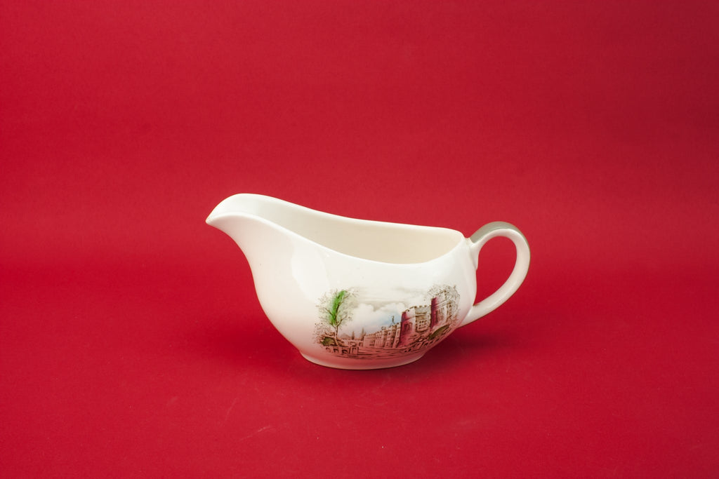 Traditional pottery gravy boat