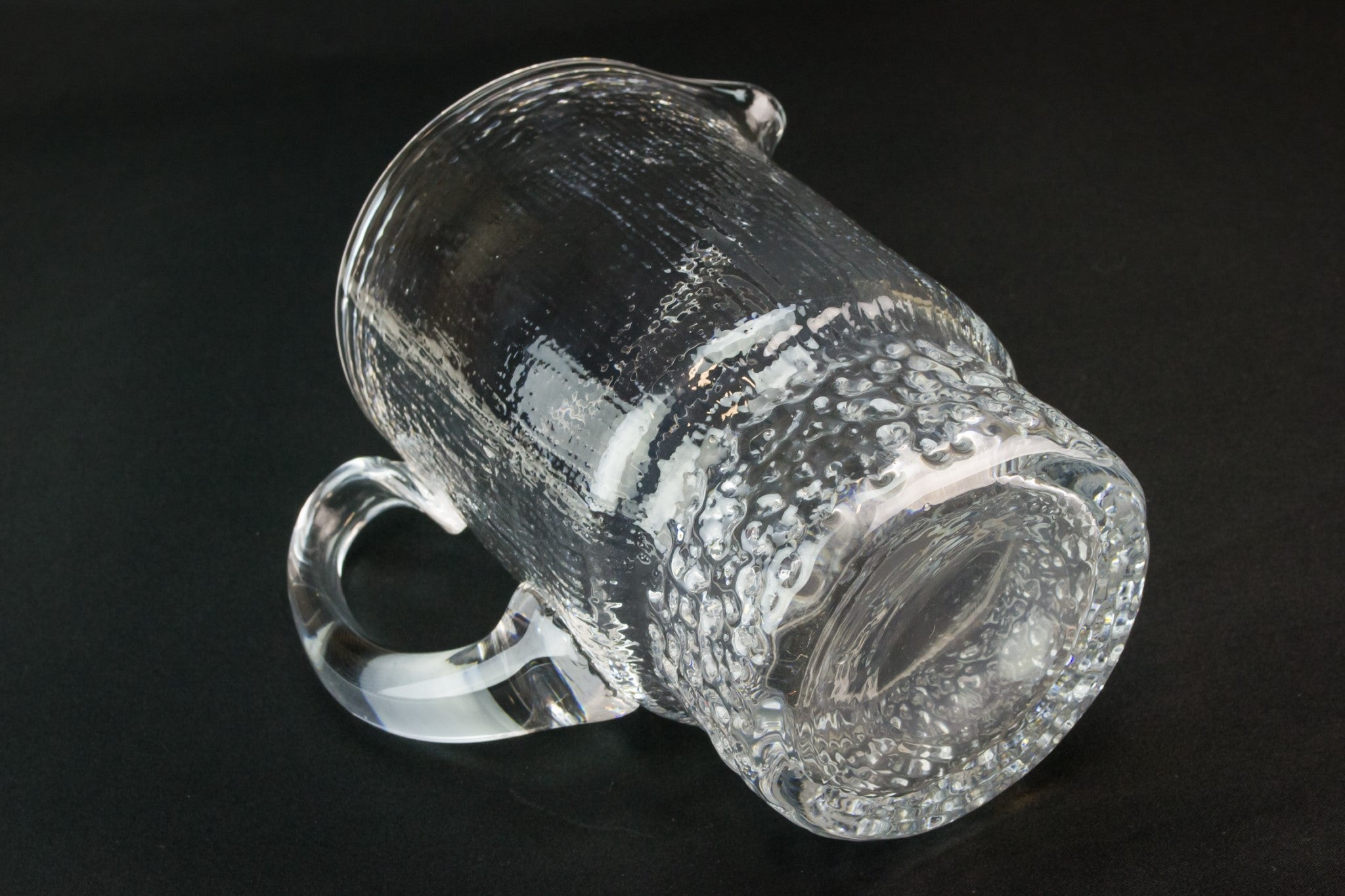 Frosted glass jug