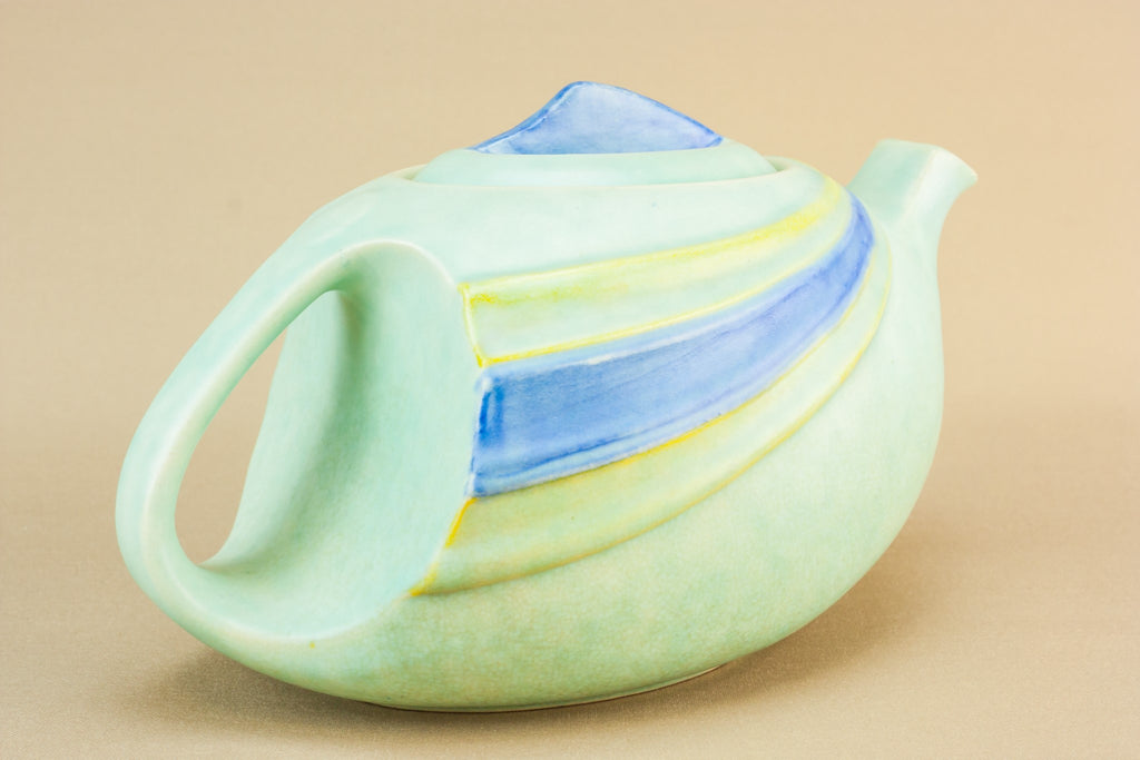 Art Deco pottery teapot