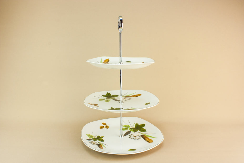 Midwinter pottery cake stand