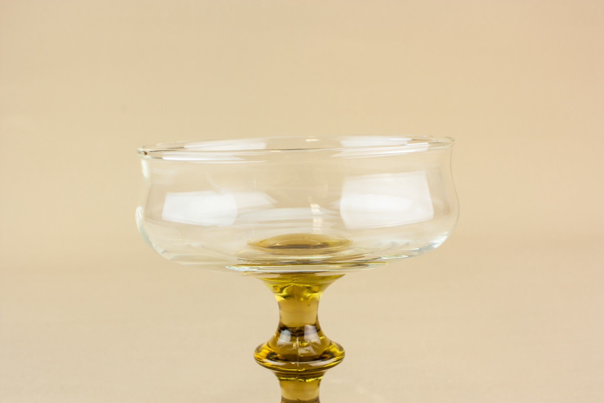 6 retro glass dessert bowls