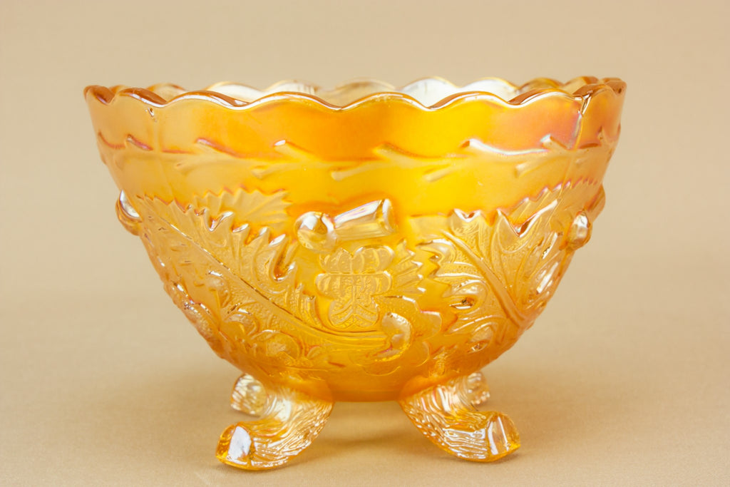 Gold lustre glass bowl