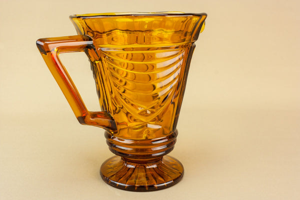 Amber glass water jug