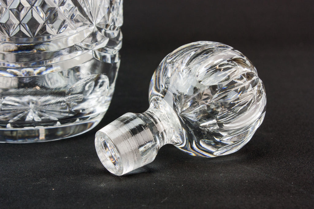Tutbury cut glass decanter