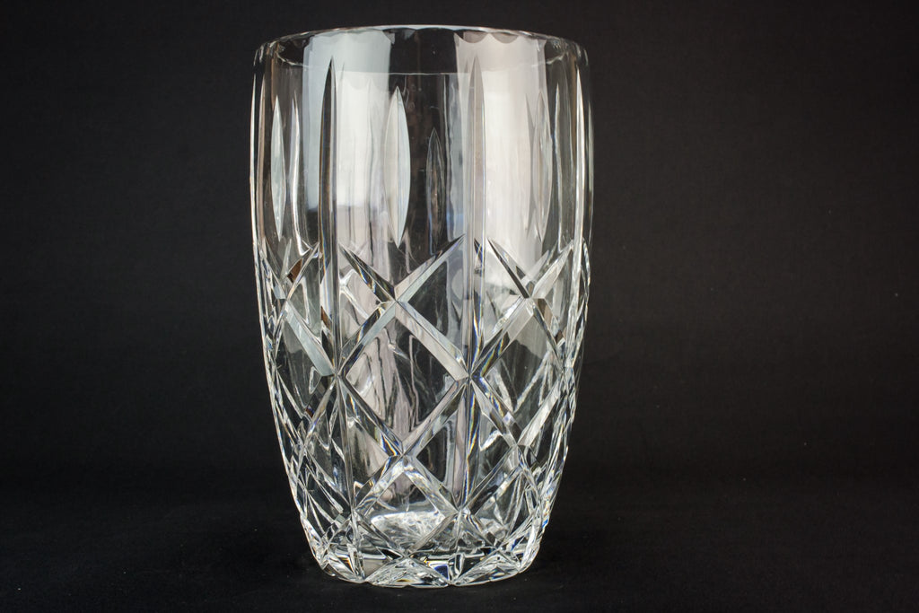 Modernist cut glass vase