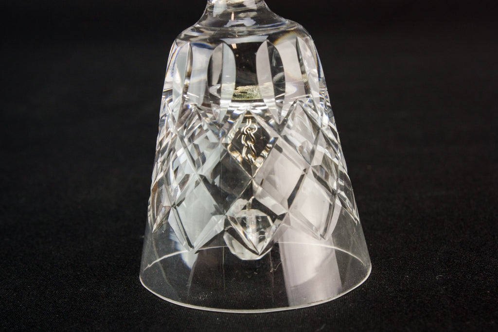 Cut glass bell