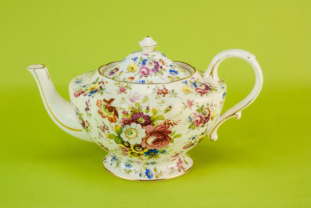 Floral tea set trio