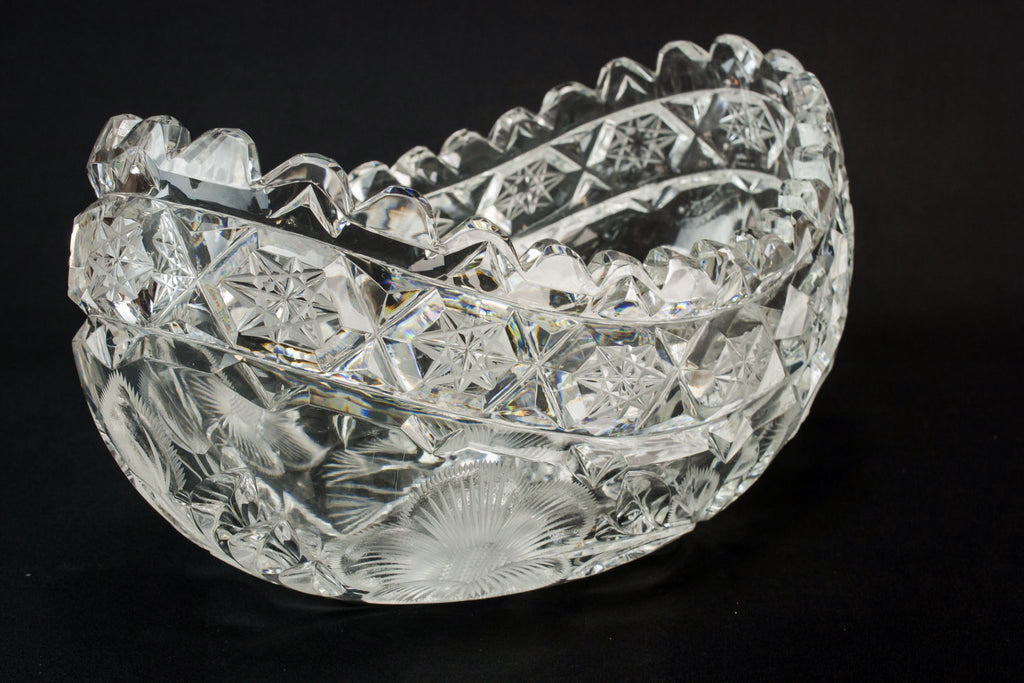 Heavy glass bowl
