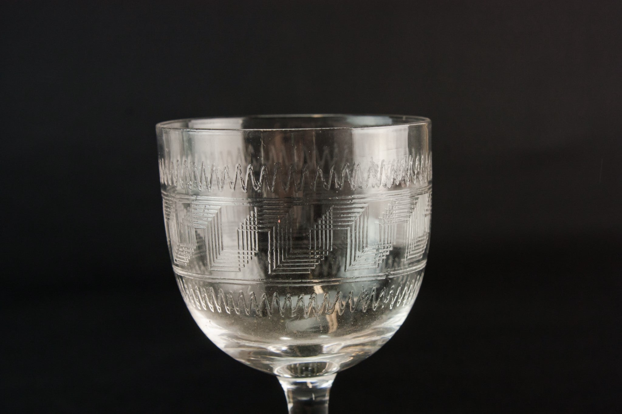 5 engraved port glasses