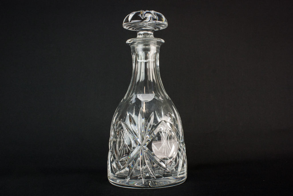 Bell cut glass decanter