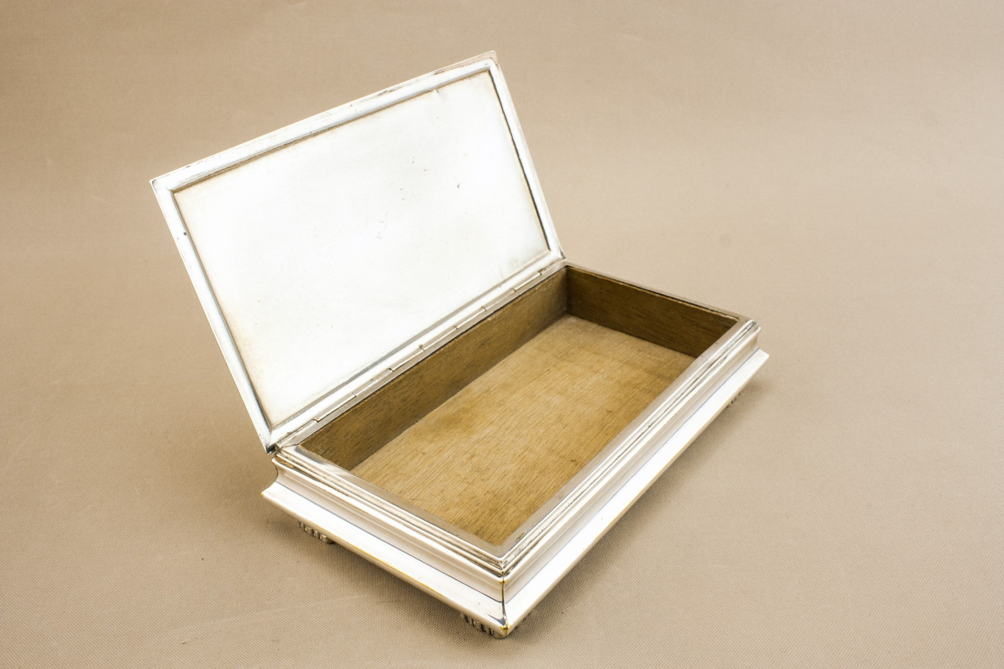 Silver plated wooden box