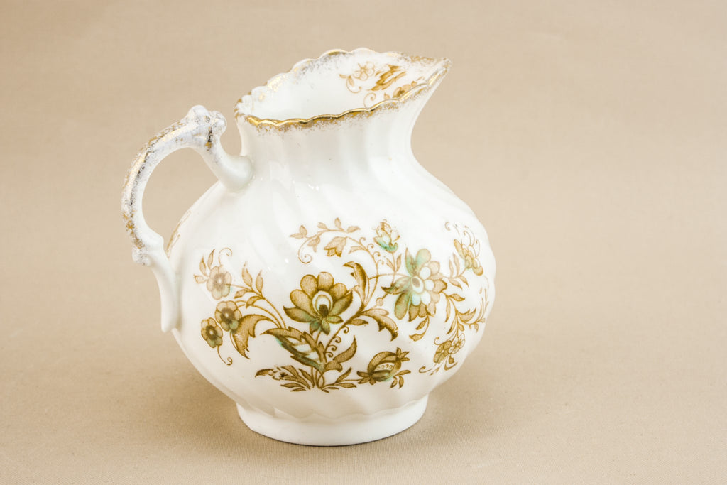 White bone china creamer