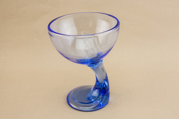 6 glass dessert stem bowls