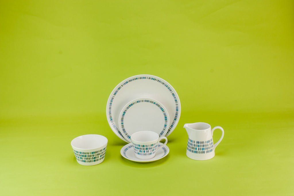 Bone china tea set for five