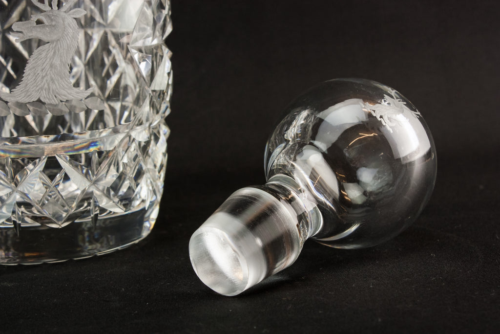 Sherry cut glass decanter