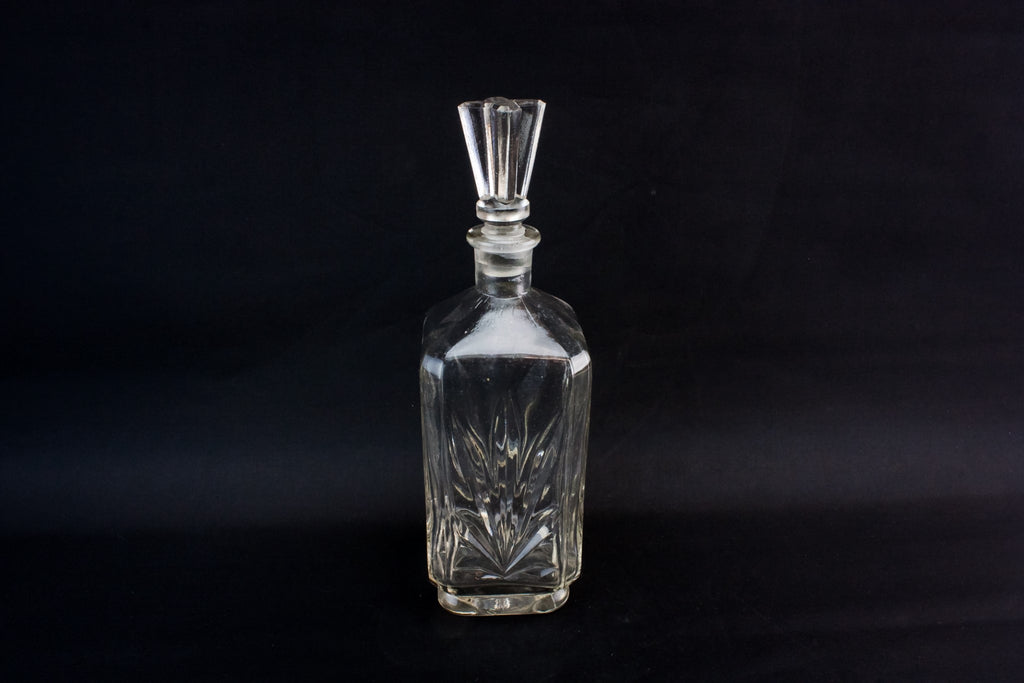 Square glass decanter
