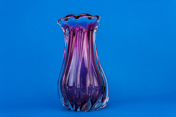 Blown glass vase