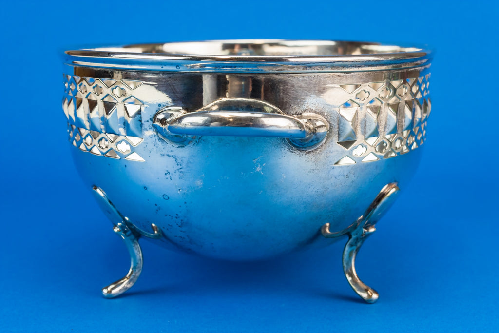 Silver plated metal bowl