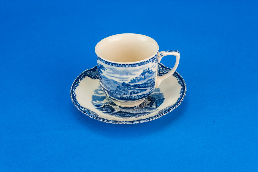 Blue coffee set for six
